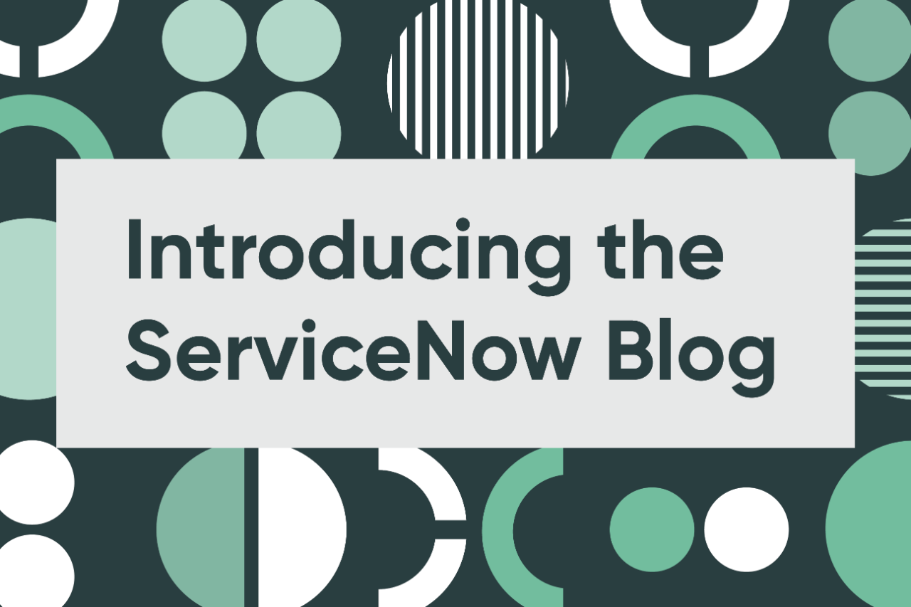 Introducing the ServiceNow Blog