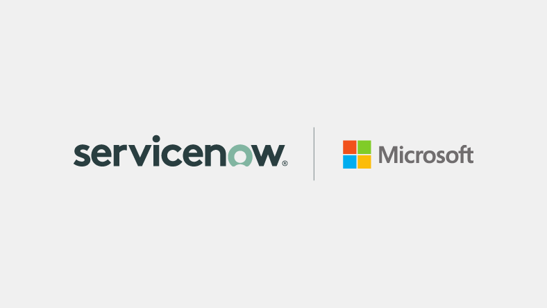 ServiceNow and Microsoft logos