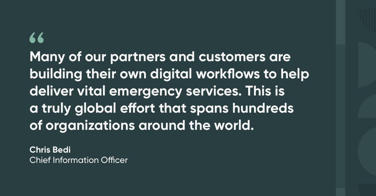 Digital workflows deliver emergency services