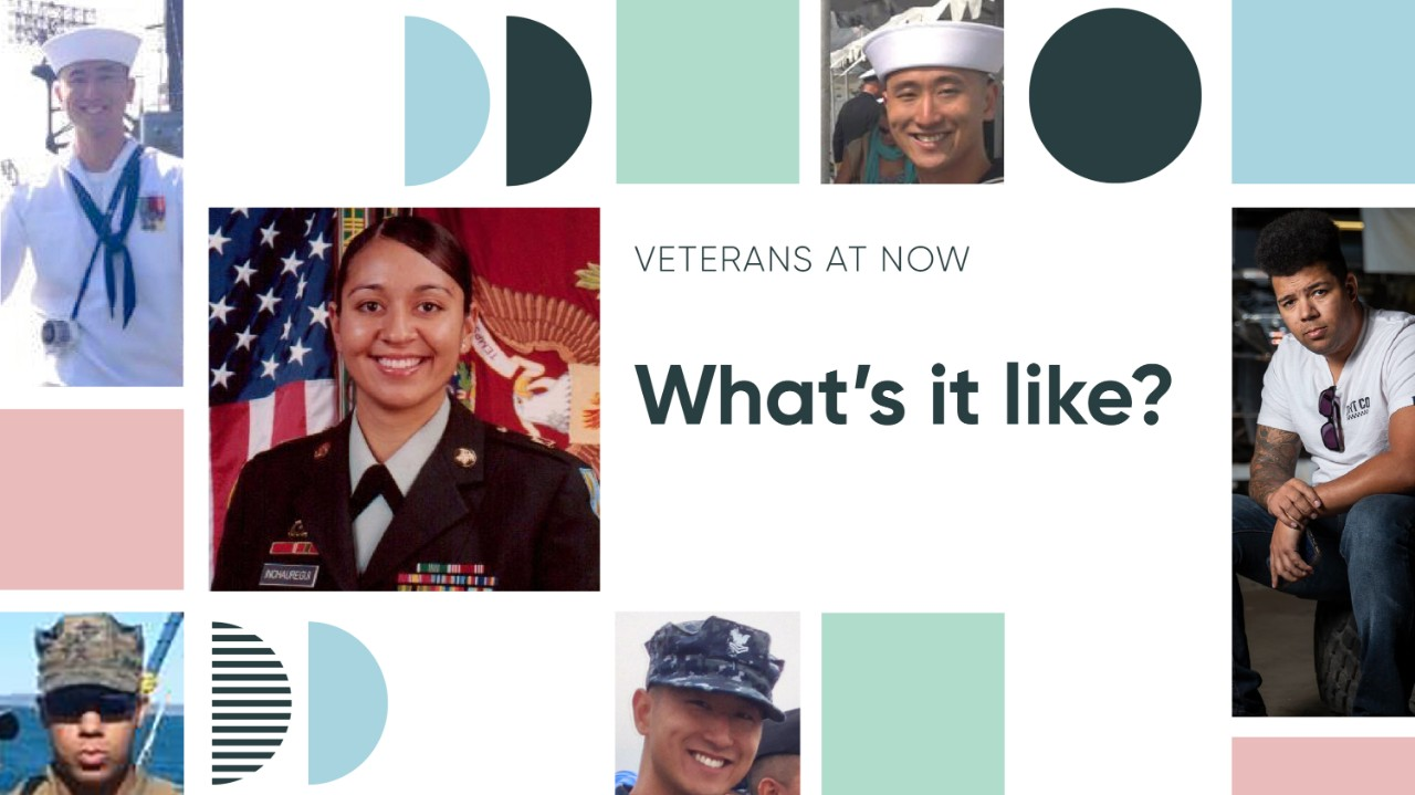 When members of the Veterans at Now belonging group talk about how they found their way to ServiceNow, each journey is unique and compelling.