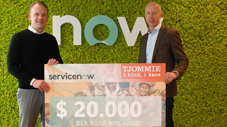 ServiceNow donated 20,000 euros to Tjommie's food garden program, aimed at helping South African townships become more self-sufficient and less reliant on foreign aid.